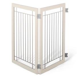 Two-panel Hardwood Pet Gate Extension