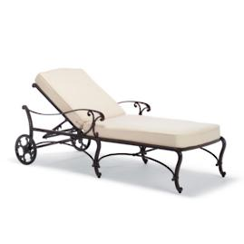 Orleans Chaise Lounge with Cushions
