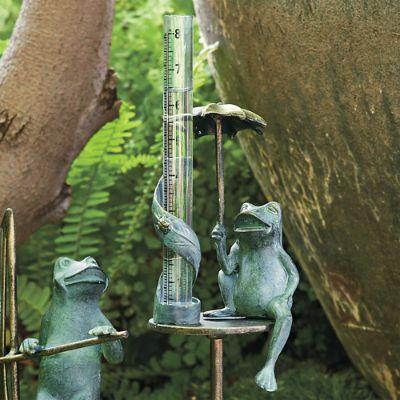 Umbrella Frog Rain Gauge Frontgate