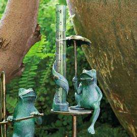 Umbrella Frog Rain Gauge