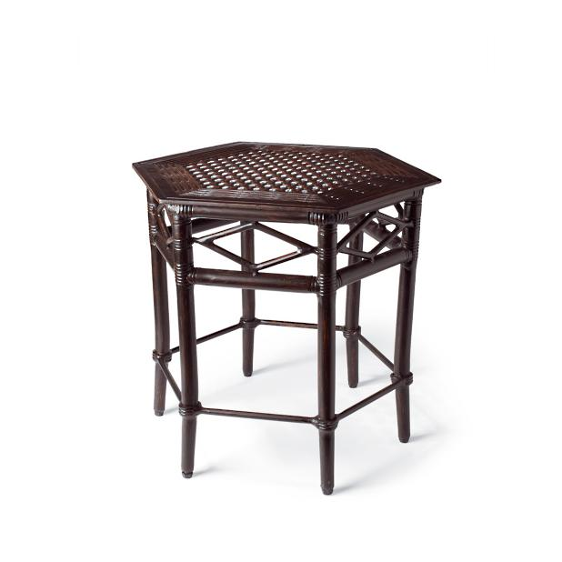 British Colonial Hexagonal Side Table - Frontgate