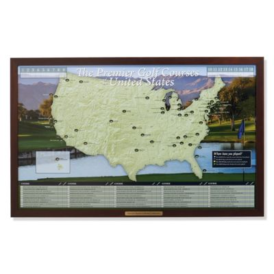 Personalized Golf Courses Of The Usa Map Frontgate