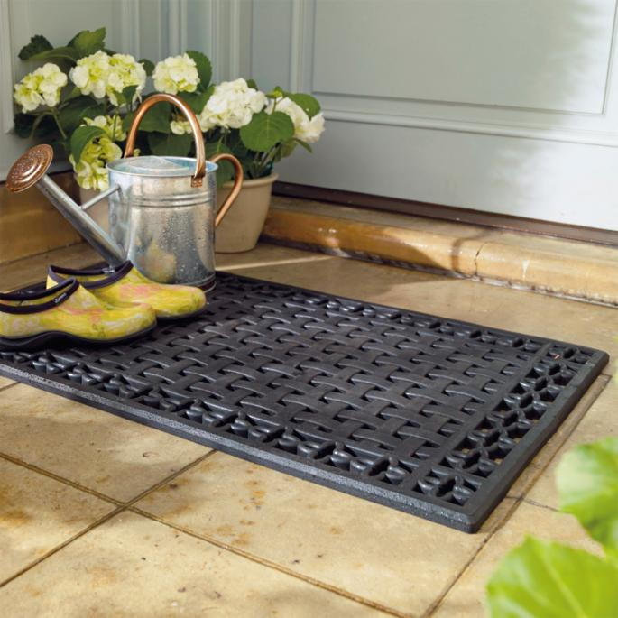 Lattice Rubber Entry Mat Frontgate