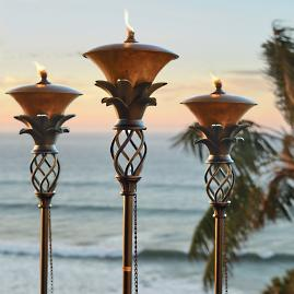 Set of Two Pineapple Torches