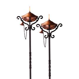 Set of Two Regent Copper Torches