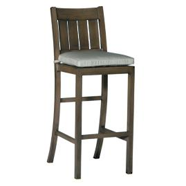 Croquet Aluminum Bar Height Bar Stool with Cushion