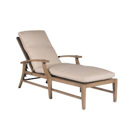 Croquet Aluminum Chaise Lounge with Cushions by Summer