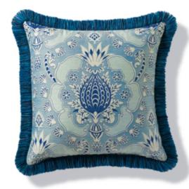 Chiquita Nautical Outdoor Pillow with Fringe