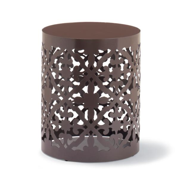 Burano Laser Cut Side Table - Melon/Turquoise