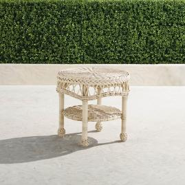 Hampton Side Table in Ivory Finish