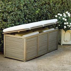 Louvered Teak Trunk