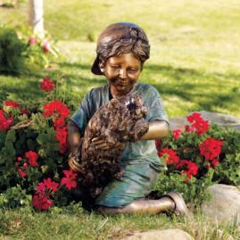 Playful Pals Bronze Outdoor Sculpture