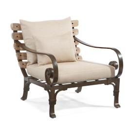 Maison Jardin Lounge Chair with One Throw Pillow
