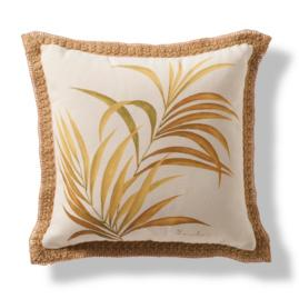 Antigua Hand-Painted Palm Leaf Throw Pillow