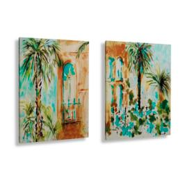 Set of Two Savannah Canvas Wall Art