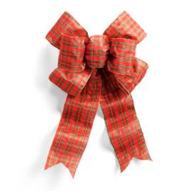 "Pre-Made 24"" Plaid Outdoor Bow"