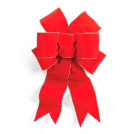 """Pre-Made 24"""" Red Outdoor Bow"""