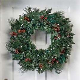 Classic Pre-lit Wreath