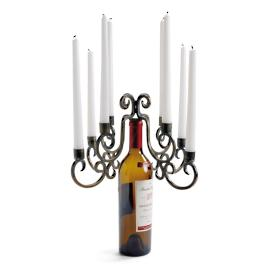 Eight-taper Wine Bottle Candelabra