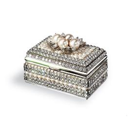 Pearl and Crystal Ring Box