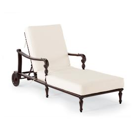 British Colonial Chaise Lounge with Cushions