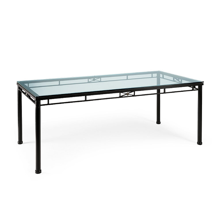 Tempered glass dining table frontgate for Tempered glass dining table