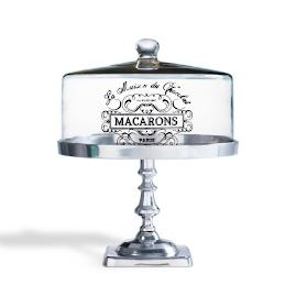 """""""Macarons"""" Medium Catering Stand with Cloche"""