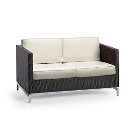 Metropolitan Loveseat with Cushions in Panther Finish