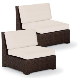 Palermo S/2 Center Chairs with Cushions in Bronze