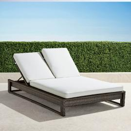 Palermo Double Chaise Lounge with Cushions in Bronze