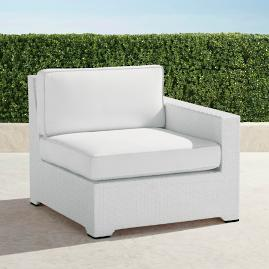 Palermo Right-facing Chair with Cushions in White Finish