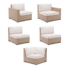 Palermo 5-pc. Modular Set in Linen Finish