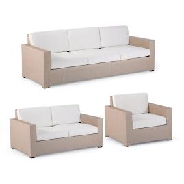Palermo 3-pc. Sofa Set in Linen Finish