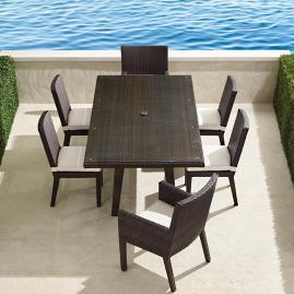 Palermo 7-pc. Rectangular Dining Set in Bronze Finish