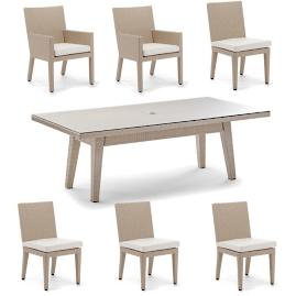 Palermo 7-pc. Rectangular Dining Set in Linen Finish