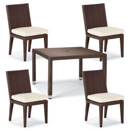 Palermo 5-pc. Square Dining Set in Bronze Finish