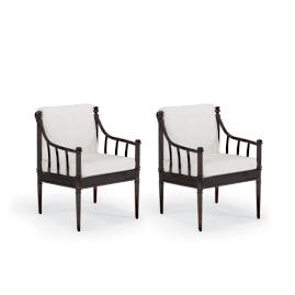 Sorrento Set of Two Dining Arm Chairs with