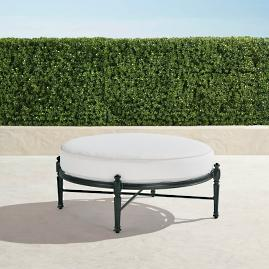Carlisle Round Ottoman with Cushion in Onyx Finish