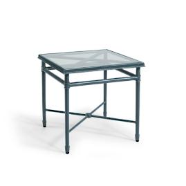 Campaign Side Table with Glass-top