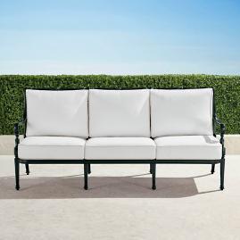 Carlisle Sofa with Cushions in Onyx Finish
