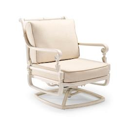 Carlisle Swivel Lounge Chair with Cushions in Parisian