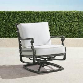 Carlisle Swivel Lounge Chair with Cushions in Slate
