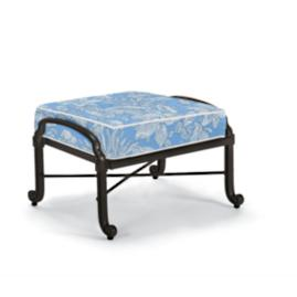 Carlisle Ottoman with Cushion in Onyx Finish