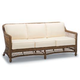 Hampton Sofa with Cushions in Driftwood Finish