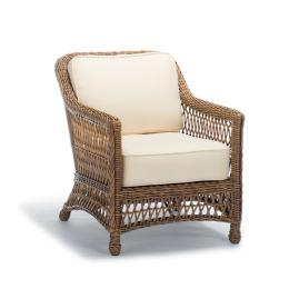 Hampton Lounge Chair with Cushions in Driftwood Finish