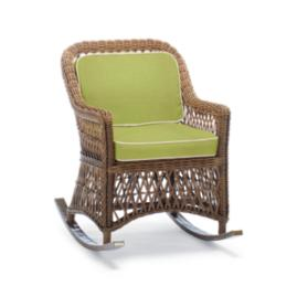 Hampton Rocker with Cushions in Driftwood Finish
