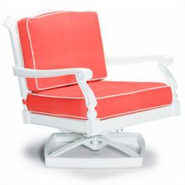 Glen Isle Swivel Lounge with Cushions in White