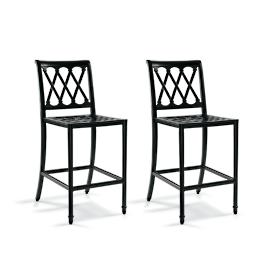 Grayson Set of Two Bar Stools in Black