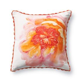 Painted Rose Melon Designer Outdoor Pillow