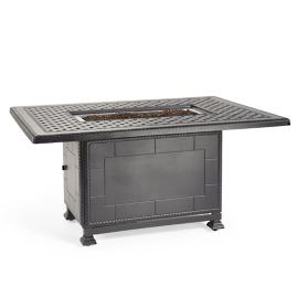 Carlisle Fire Chat Table in Slate Finish